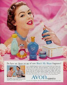 Avon advert from 1950/51 http://tinahuckaby.avonrepresentative.com/