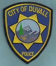 DUVALL WASHINGTON POLICE PATCH