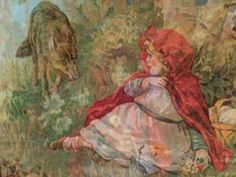 Little Red Riding Hood and the Big bad Wolf. Domestication of the wolf by Europeans and hatred and envy of Semtiic media that will not let man or beast be. Pinocchio, Tardis, Illustrations, Illustration Art, Charles Perrault, Fable, Grimm Fairy Tales, Big Bad Wolf, Red Flag