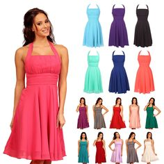 Short Cocktail Party Prom Going Out Evening Bridesmaid Formal Dress UK 6 to 24