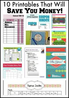10 printables that will save you money