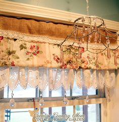 Creative Country Mom: Soft Cottage Collected Display at my Kitchen Window