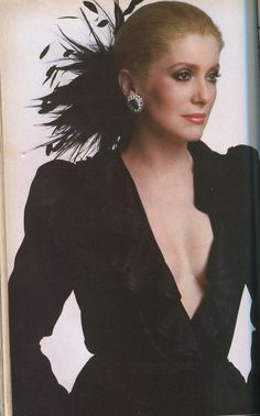 Catherine Deneuve 1986. (researching photo credit - this is a repin without a cited source)