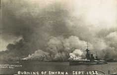 The Great Fire of Izmir ( Smyrna ) 1922 Religious Tolerance, Great Sword, The Great Fire, Greek History, American Red Cross, Historical Pictures, World War I, Athens, Old Photos