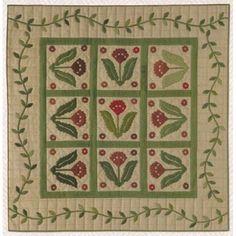Antique Folk Flower pattern by Primitive Gatherings