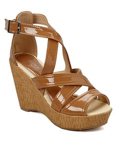 Camel Patent Wedge by Shoes of Soul #zulily #zulilyfinds