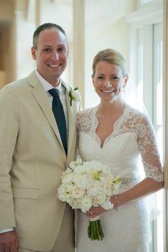 Keyhole Back Lace Wedding Dress with Sleeves on Etsy, $849.00