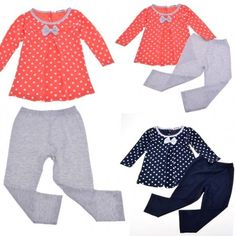 Baby Girl Kids Childrens Wear Long Sleeve Costumes Tops Blouse   Pant