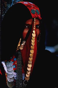 Africa | Egyptian Muslim Woman | Image scanned from an old National Geographic ~ photographer ?