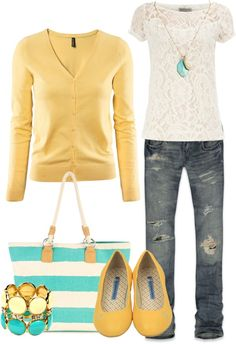 """Teal Sunshine"" by heather-rolin on Polyvore"