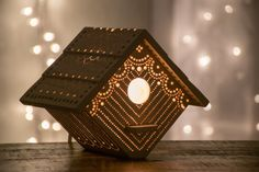 Birdhouse Night Light - Woodland Nursery Nightlight - Baby / Kid's Room Lamp by LightingBySara $54.00