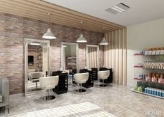 Salon de coiffure - Mobilier moderne | Showroom | Pinterest ...