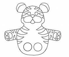 Vingerpopje tijger / fingerpuppet / MOLDE FANTOCHE DE DEDO!