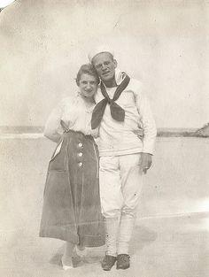 A sailor and his darling, circa 1910s | Flickr