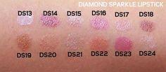 Diamond Sparkle Lipstick Swatches