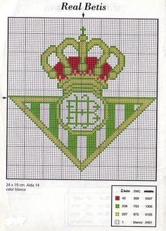 Cómo hacer el escudo de tu equipo favorito en punto de cruz Hama Beads, Plastic Canvas, Pixel Art, Dragon Ball, Cross Stitch Patterns, Needlework, Doodles, Embroidery, Blog