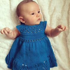 """You are bidding on Lilly Rose Dress PDF pattern  Yarn – Cascade Pima Tencel Needle - 6 us (4.00 mm) or what you need to get gauge Gauge - 20.0 sts = 4 inches Yardage - 270 to 700 yards Sizes - Newborn (3 months, 6 months, 12 months, 18 months, 2T, 3T) Chest measurements - 16""""(18"""",19"""", 20"""", 21"""",22"""",23"""") Lilly Rose has a retro feel to it, with a full princess skirt. Top down design, knit mostly in the round. Light Worsted or DK weight yarn works well. For winter choose wool, and for a summ..."""