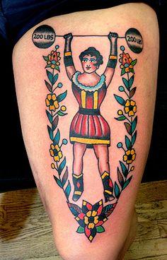 robertryanofjudah: Strong Lady by Robert Ryan -Electric Tattoo- N.J. 2013 this.