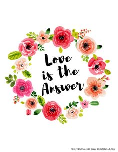 """""""Love is the Answer"""" Print"""