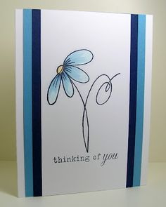 Love the symmetry and colors with this sentiment - Flying 101 Handmade Birthday Cards, Greeting Cards Handmade, Cute Cards, Diy Cards, Hand Drawn Cards, Card Drawing, Paint Cards, Watercolor Cards, Watercolour