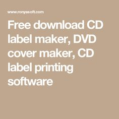 Download Cd Back Insert Template With Ronyasoft Cd Dvd Label Maker
