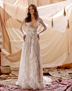Classic Wedding Dress, Fall Wedding Dresses, Wedding Dresses Plus Size, Wedding Gowns, Muse By Berta, Boho Wedding Dress Backless, The Dress, Dress Lace, Marie