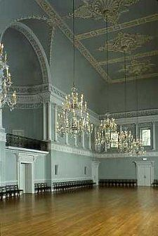 I based the assembly rooms in Grace-by-the-Sea on the ones in Bath.