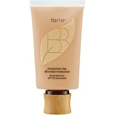 tarte Amazonian Clay BB Tinted Moisturizer Broad Spectrum SPF 20... ($36) ❤ liked on Polyvore featuring beauty products, makeup, face makeup, tinted moisturizer, tarte, tarte tinted moisturizer and oil free tinted moisturizer