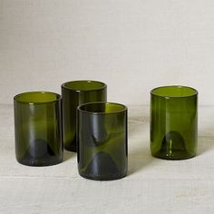 Recycled Wine Punt Glassware - Green 12 oz (They remind me of glasses my grandmother used to have)