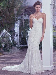 Maggie Sottero 'Mirelle'  #wedding dress #beautiful #feminine #lace appliques #romantic #form fitting #mermaid