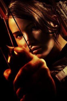 The inspiring Katniss Everdeen, portrayed by Jennifer Lawrence.