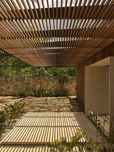 Rio Grande, Bamboo Ceiling, Steam Room, Marquise, Outdoor Living, Outdoor Decor, Sauna, Common Area, House Front