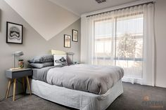 The modern second bedroom. Ventura Homes, Storey Homes, Display Homes, Two Bedroom, House Design, Entertaining, Modern, Furniture, Home Decor