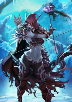 Lady Sylvanas from World of Warcraft, a very cool elf!