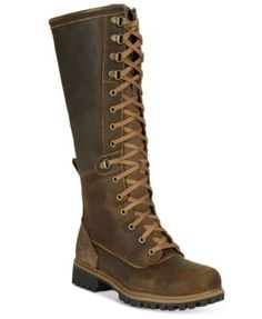 Riding boots just got rugged with the ultra fashionable Wheelright boots by Timeberland, finished with lace-up detail. Timberland Boots Outfit, Timberlands Women, Brown Knee High Boots, Brown Boots, Lace Up Riding Boots, Laced Boots, Heeled Boots, Shoe Boots, Shoes