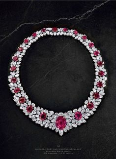 Burmese Ruby and Diamond Necklace                                                                                                                                                                                 More
