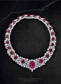Burmese Ruby and Diamond Necklace