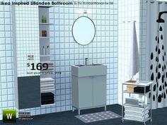 Ikea Inspired Lillanden bathroom by riccinumbers - Sims 3 Downloads CC Caboodle The shower