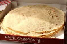 Things to Eat in #Sardinia   http://www.weather2travel.com/blog/top-10-things-to-east-in-sardinia.php   #top10 #food #Italy #travel #foodie Pane Carasau, Sardinia © Rubber Slippers In Italy - Flickr Creative Commons