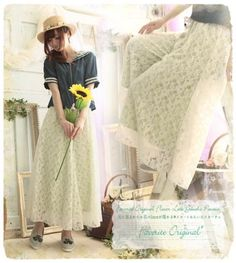 Mori-Girl-Sweet-Lolita-Lace-Japanese-Vintage-Fairy-Casual-Slim-Loose-Pants-Skirt