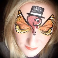 Happy Thanksgiving! If anybody needs a turkey painted on your face, I'm your…