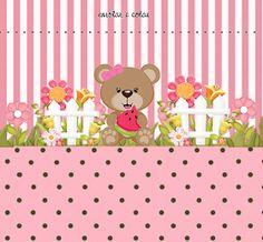 Osita Comiendo Sandía: Kit para Fiestas para Imprimir Gratis. Cute Bear, Oh My Fiesta, Decoupage, Hello Kitty, Patches, Baby Shower, Crafts, Free, Churros
