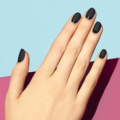 Celebrate your inner Femme Fatale. This look pairs a matte nail with glossy moons for a vampy, yet understated look. #paintboxmani #nailart #mattenails