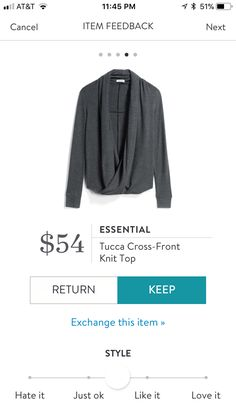 Essential Tucca Cross-Front  Knit Top #stitchfix