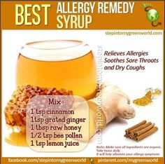 Home made allergy remedy