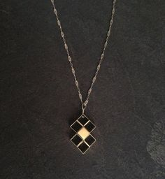 Squares to Diamonds Necklace by ginamount on Etsy, $110.00