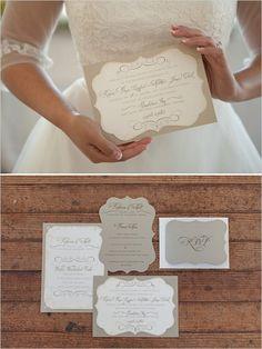 Beautiful and elegant wedding invitations.