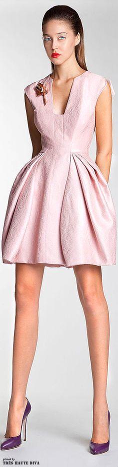 Basil Soda/ 2014/interesting blush pink short wedding dress choice---but most likely not a Leah-choice...