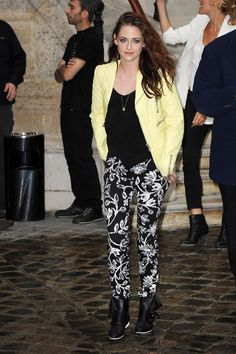 Kristen Stewart at the Balenciaga Spring '13 show