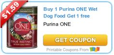 Tri Cities On A Dime: SAVE $1.59 - BUY 1 PURINA ONE WET DOG FOOD & GET 1...